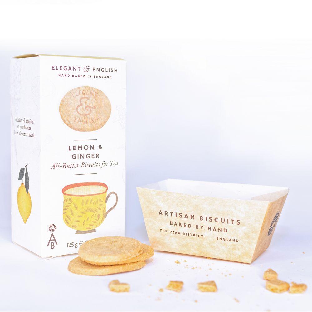 Biscuiti din ingrediente naturale - Lămâie & Ghimbir - 125 g